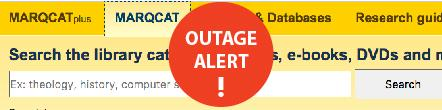 Outage alert