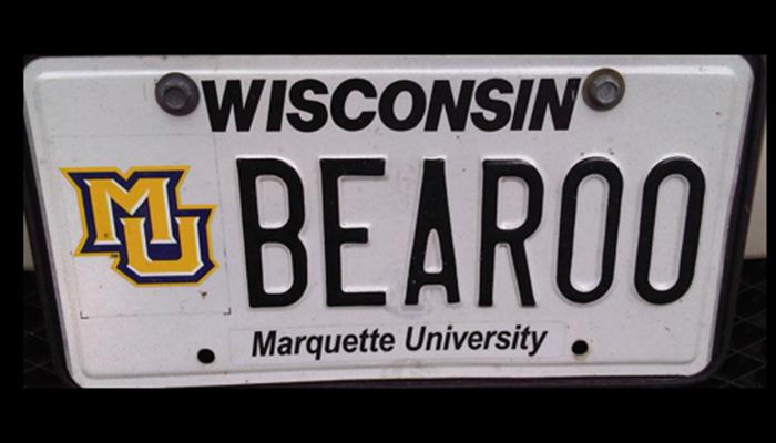 BEAR00 Marquette University license plate