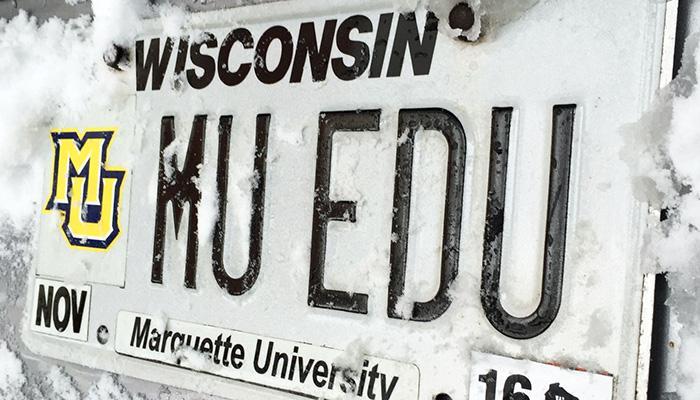 MU EDU Marquette University license plate