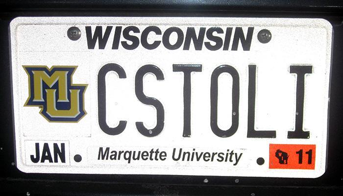 CSTOLI Marquette University license plate