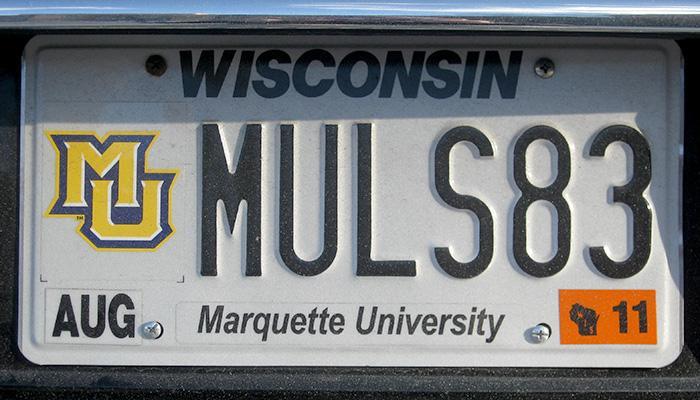 MULS83 Marquette University license plate