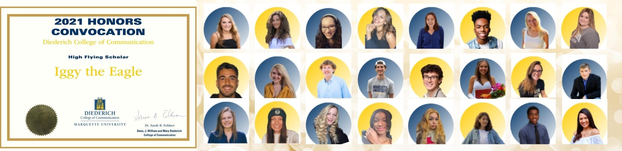 Student winners for 2021