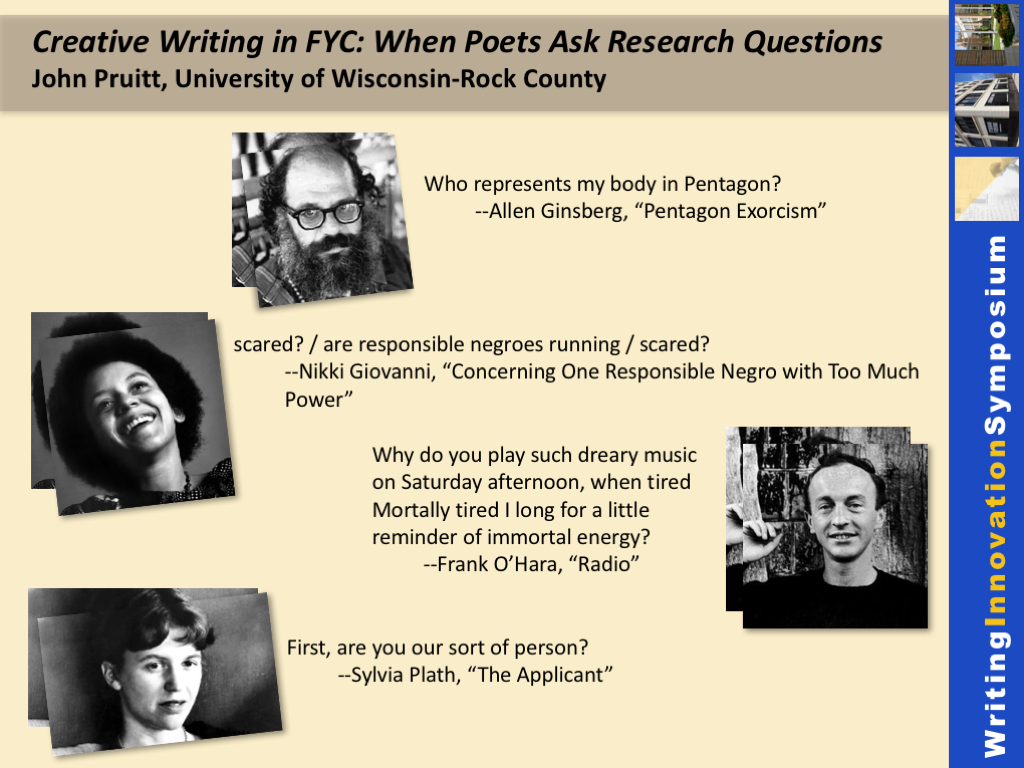 When poets ask research questions, creative writing in FYC