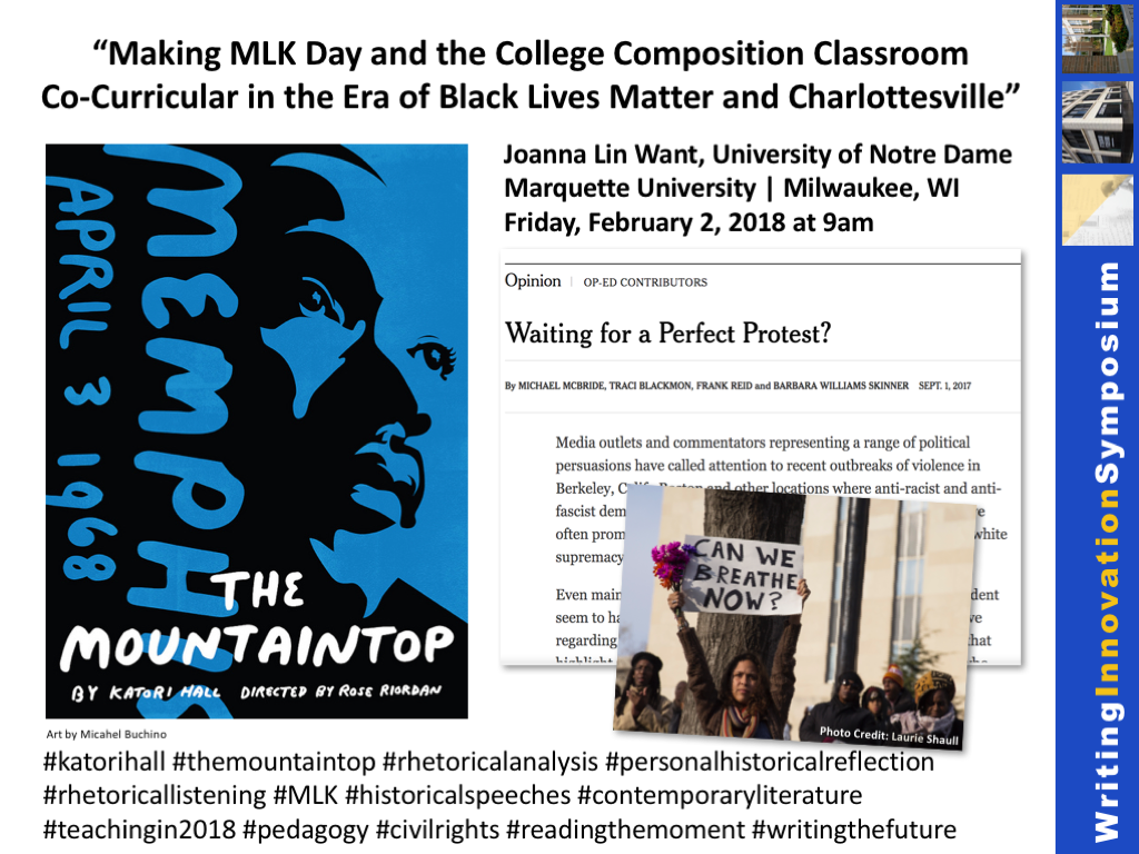 Black Lives Matter and Charlottesville in college composition classroom
