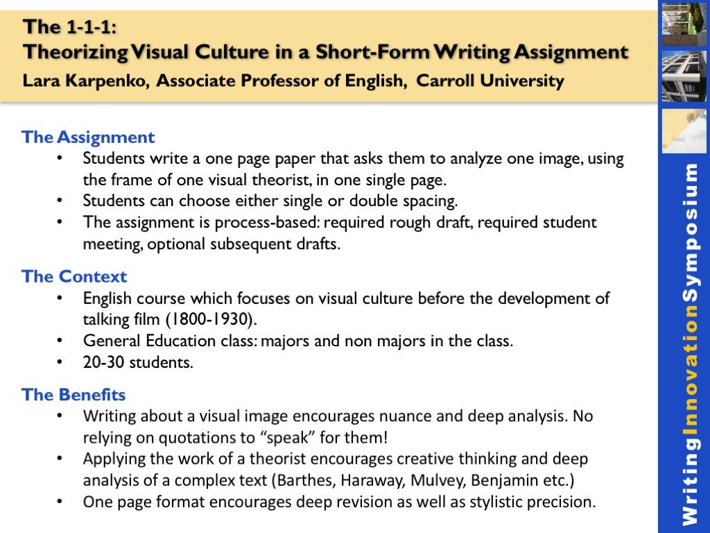 short-form writing assignment