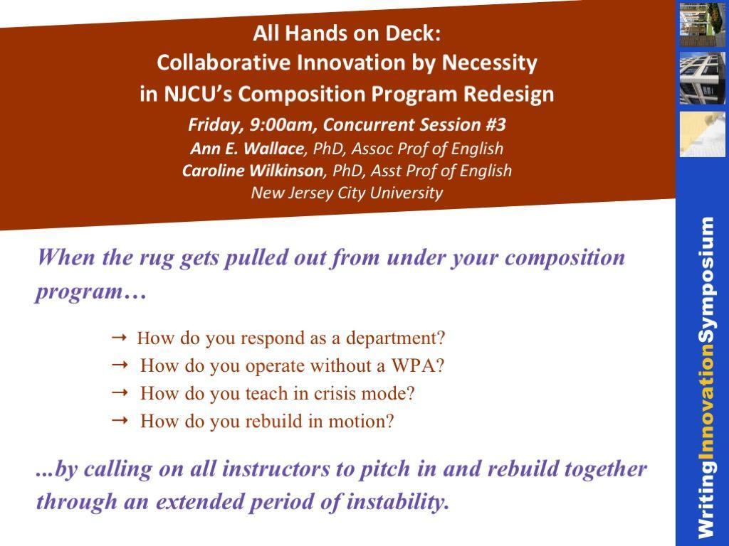 NJCU's composition program redesign