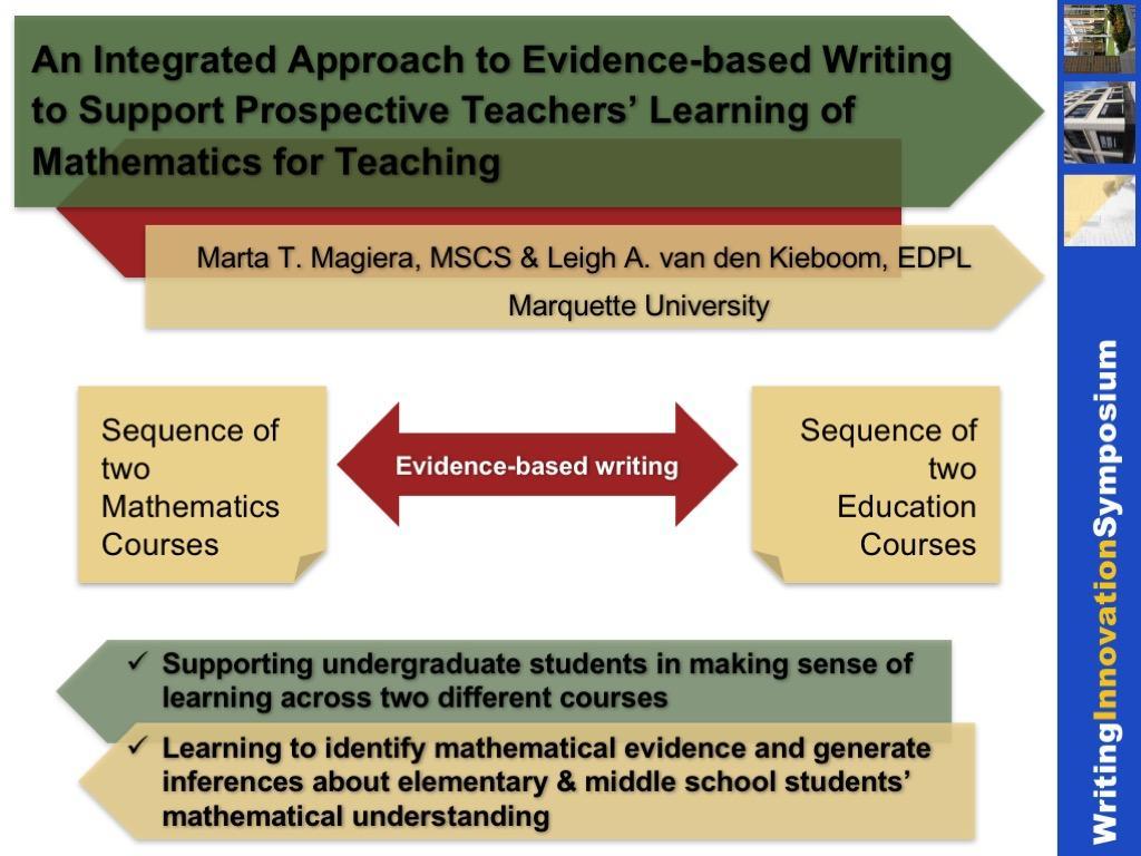 evidence-based writing for mathematics