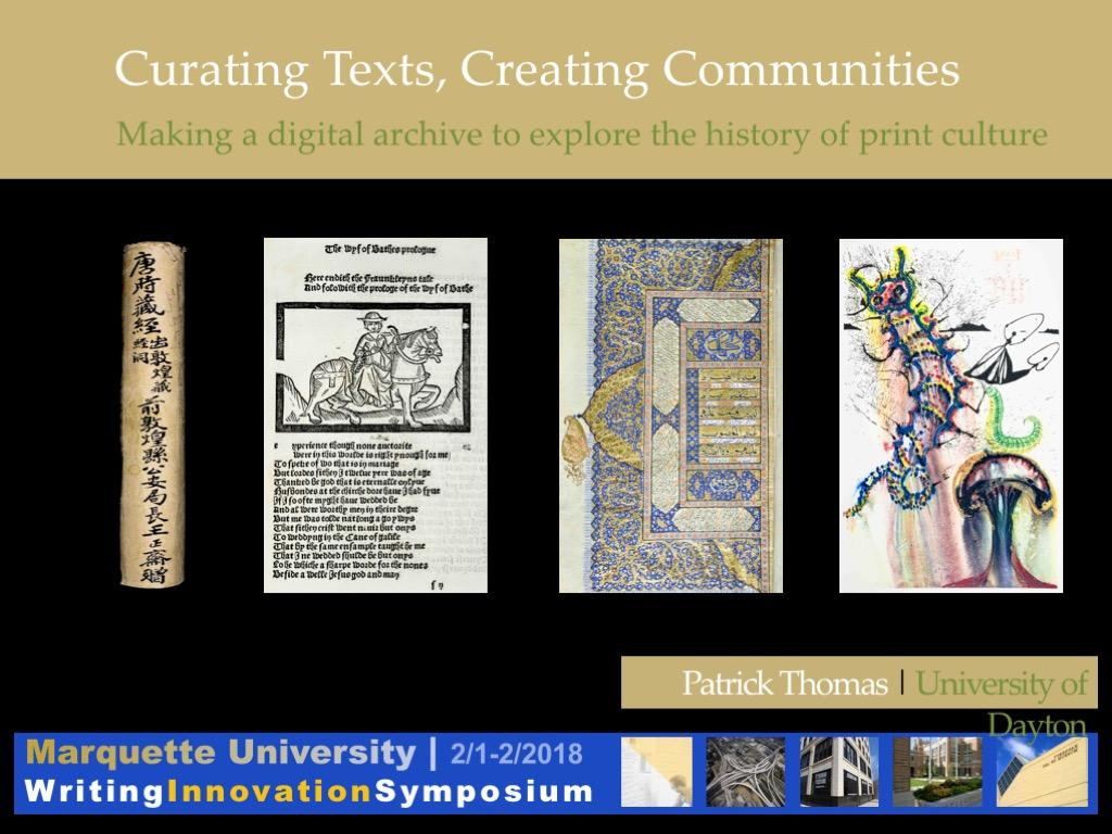 curating texts, creating communities