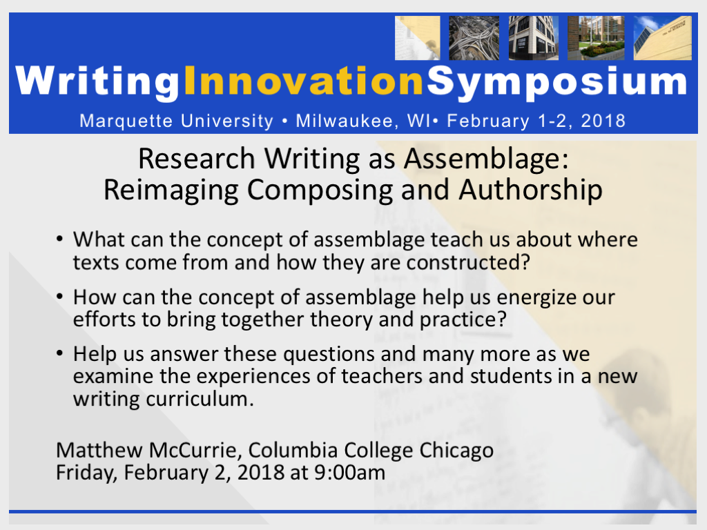 Re-imagining composing and authorship research writing