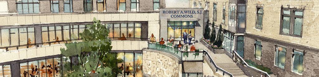 Rendering of Robert A. Wild, S.J. Commons