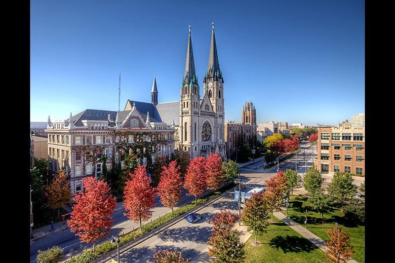 Autumn on the Marquette University campus