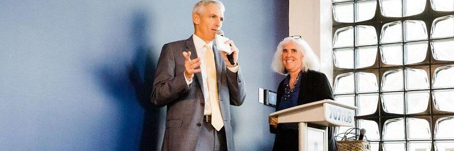 President Lovell and Jeanne Hossenlopp Kick Off the Event