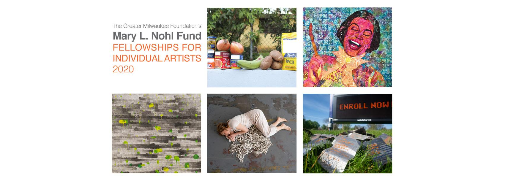 Artwork by the winners of the 2020 Mary L. Nohl Fund Fellowships at the Haggerty Museum of Art at Marquette University.