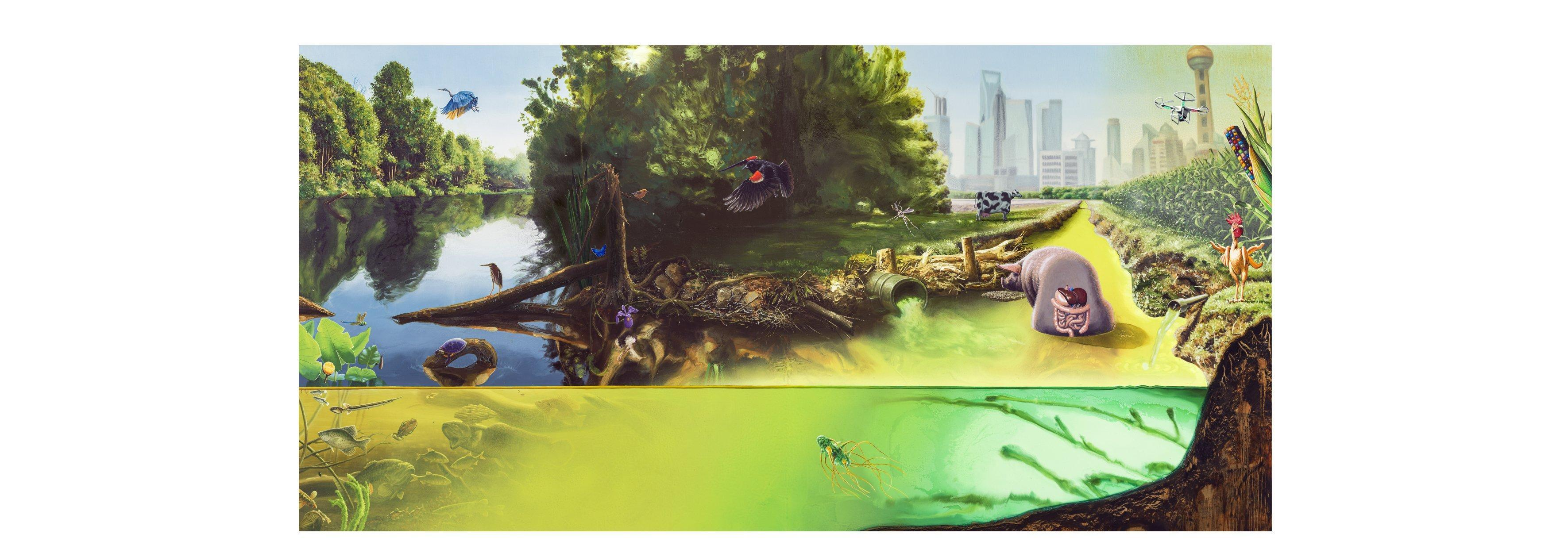 """Watershed"" from the exhibition ""The Great Lakes Cycle"" by Alexis Rockman"