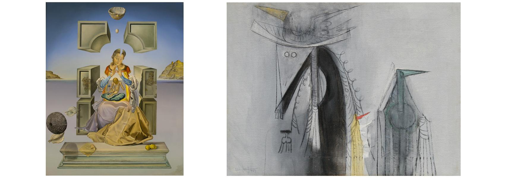 Artwork by Salvadori Dali and Wifredo Lam from the Haggerty's collection