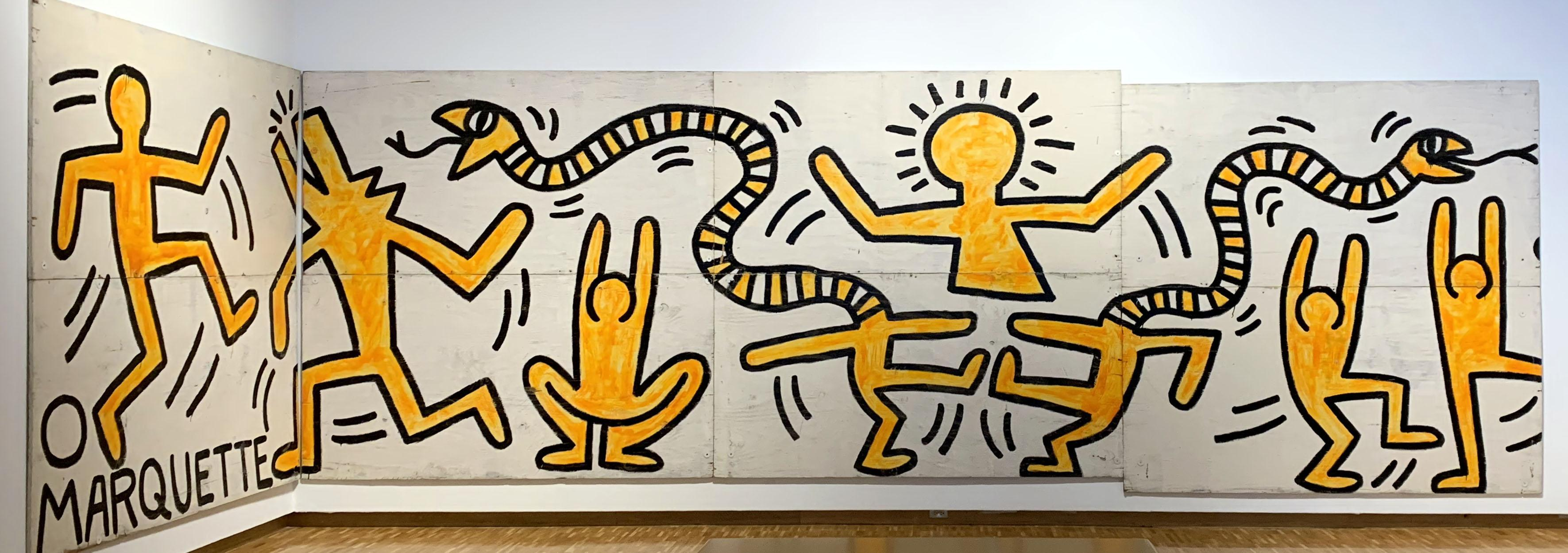 """Construction Fence"" by Keith Haring, 1983, mixed reality experience"