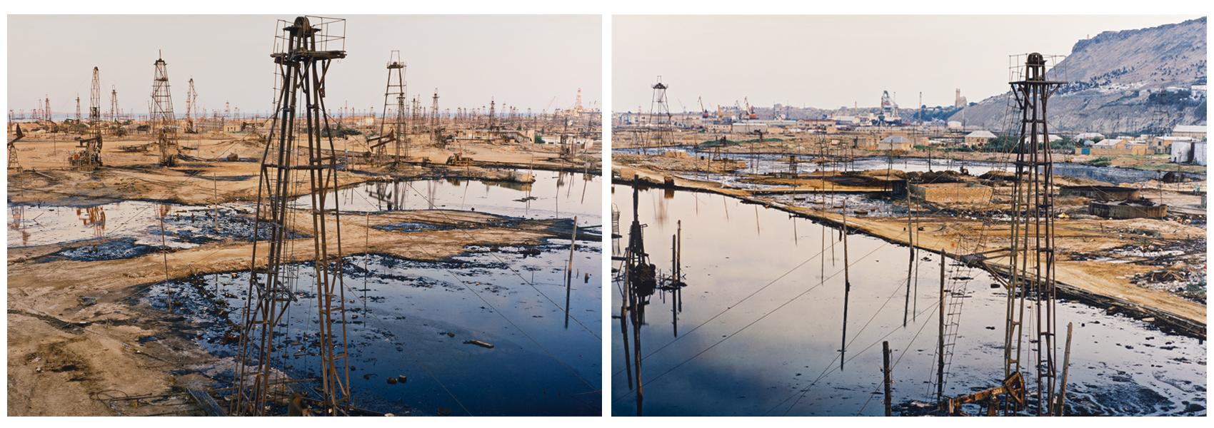 Edward Burtynsky Canadian, b. 1955 SOCAR Oil Field #1 a&b, Baku Azerbaijan, 2006 Digital chromogenic color print 40 x 120 in 101.6 x 304.8 cm 2009.31  Museum purchase with funds from Mrs. Martha W. Smith by exchange Collection of the Haggerty Museum of Art, Marquette University