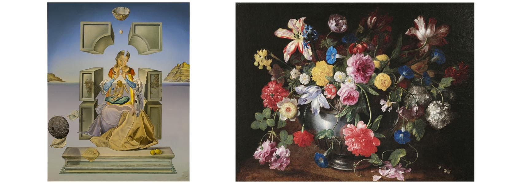 Salvador Dali Spanish, 1904 - 1989 Madonna of Port Lligat, 1949 Oil on canvas 59.9  Gift of Mr. and Mrs. Ira Haupt Collection of the Haggerty Museum of Art, Marquette University  Attributed to Nicolas Baudesson French, 1611 - 1680 Still Life With Flowers, 1600s Oil on panel 66.11  Gift of Ms. Paula Uihlein Collection of the Haggerty Museum of Art, Marquette University