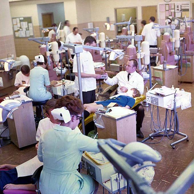 Dental clinic floor