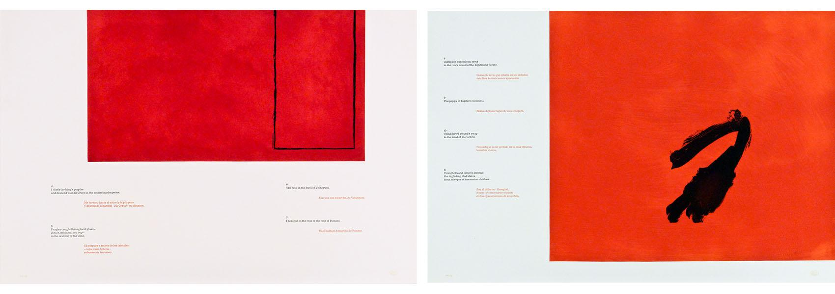 Two prints from the portfolio A la pintura by Robert Motherwell