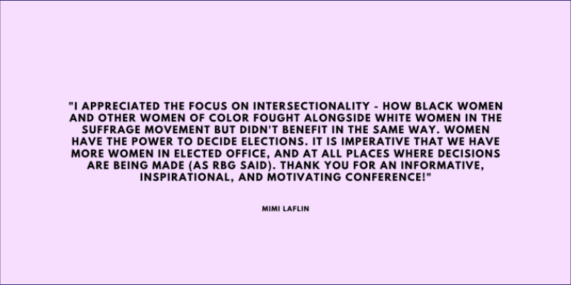Mimi Laflin Reflects on the Suffrage Conference