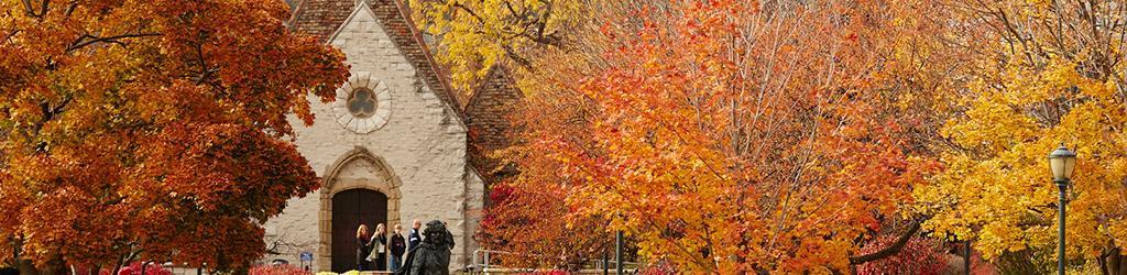 St. Joan of Arc Chapel in autumn
