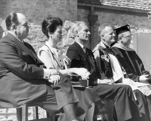 Saint Joan of Arc Chapel dedication ceremony, 1966