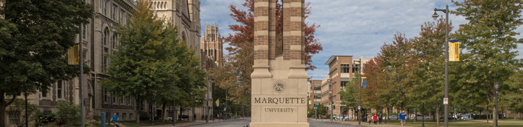 Wisconsin Ave at Marquette University