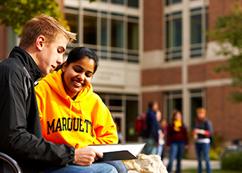 Students studying at Marquette University