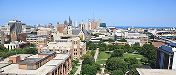 Marquette arial photo of campus