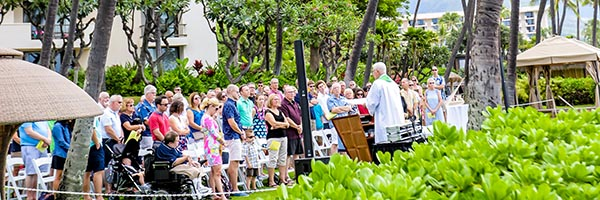 Mass in Maui with MU alumni