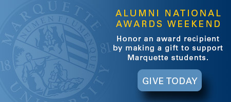 Give in honor of an Alumni National Awards recipient