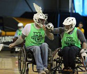 Wheelchair lacrosse team