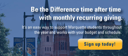 Give to Marquette - Recurring Giving Option