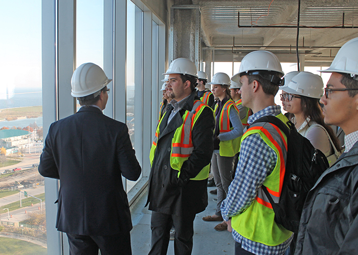 Students in commercial construction