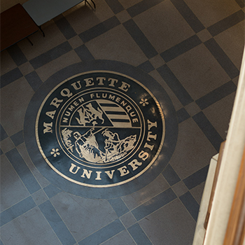 Marquette University floor graphic