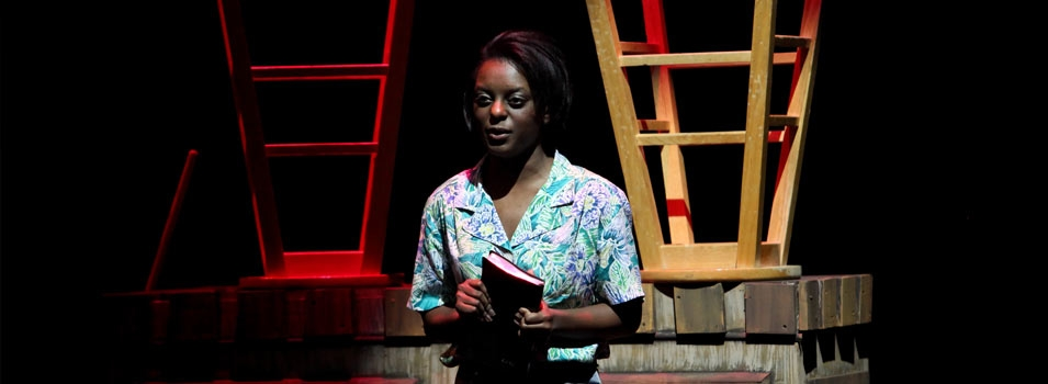 Theatre arts student production with acting