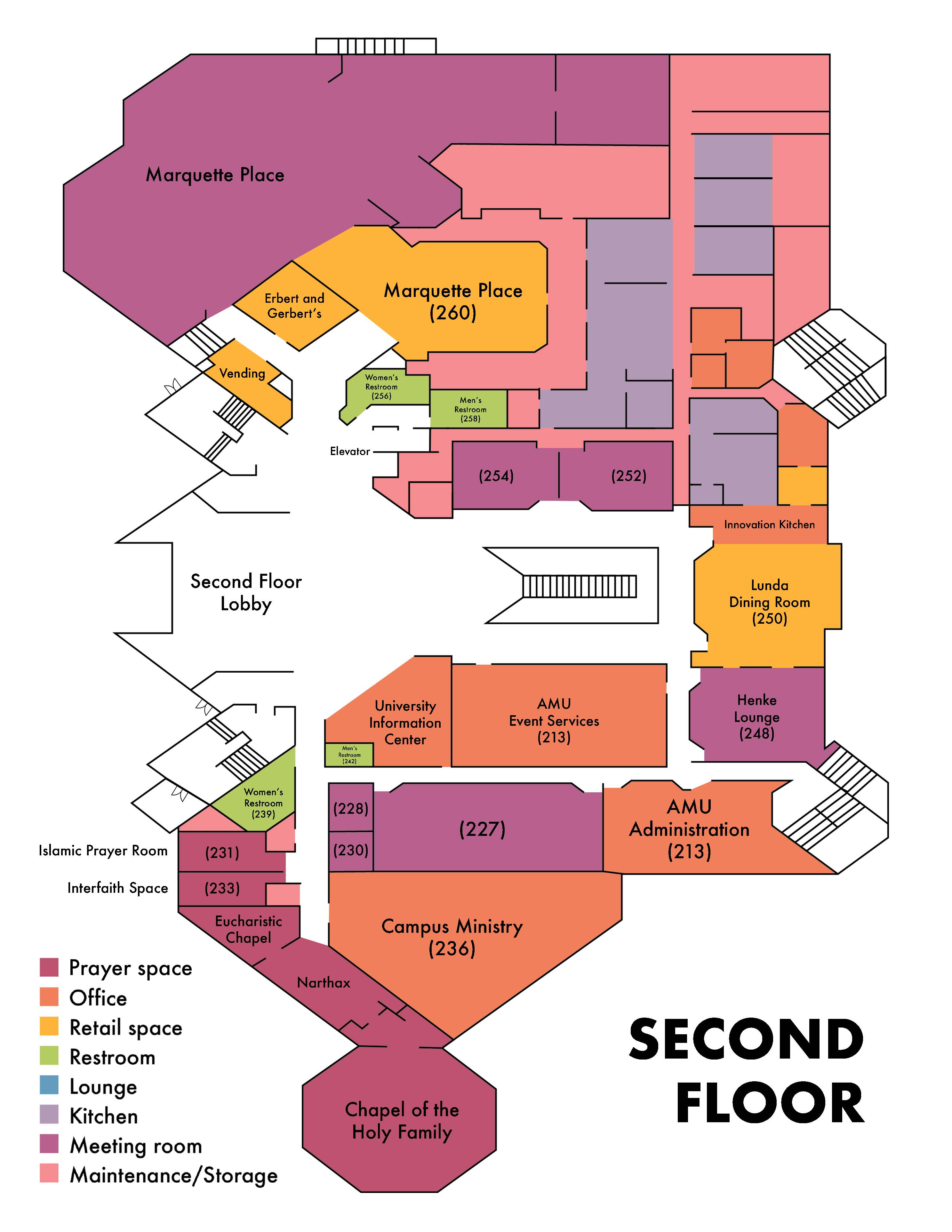 amu floor two diagram