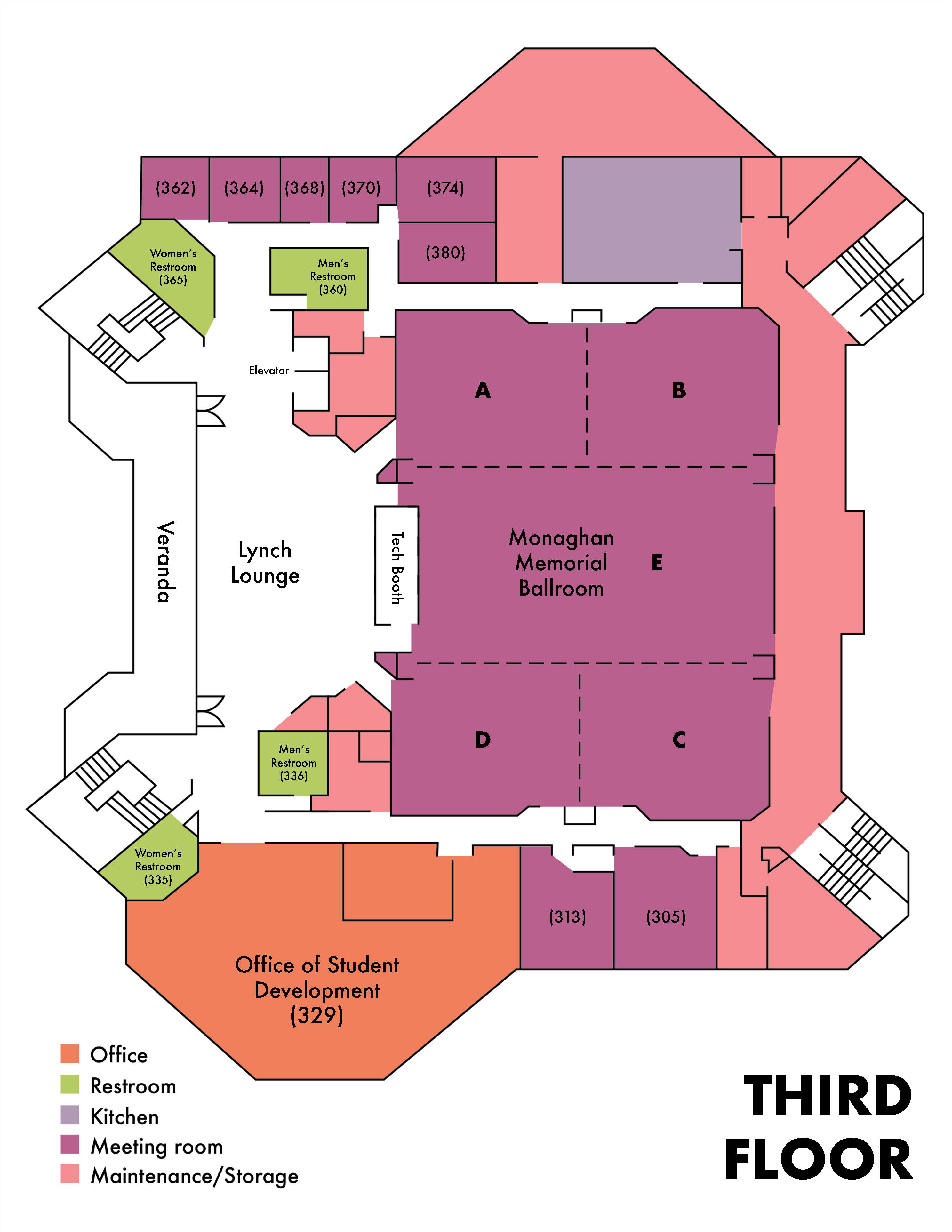 amu 3rd floor diagram