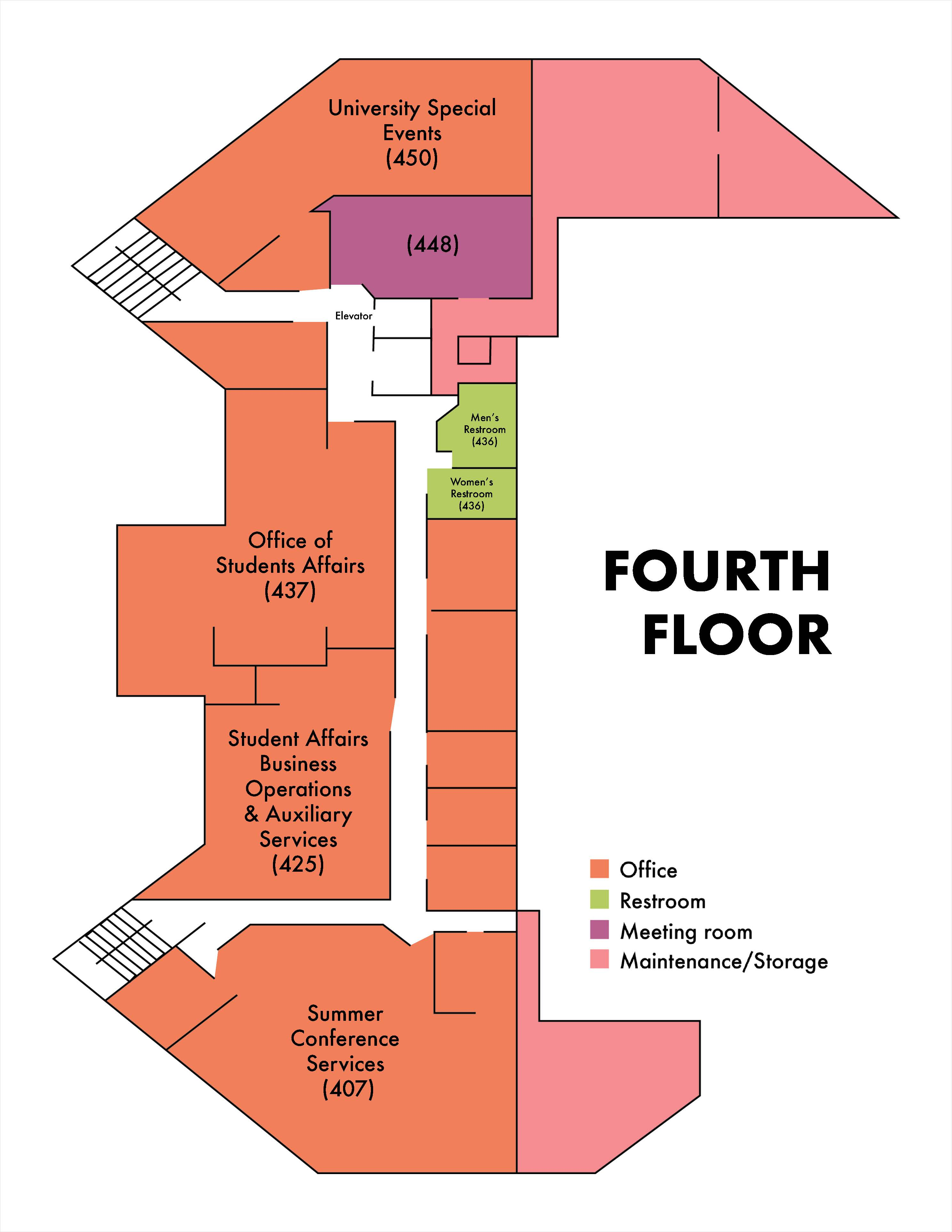 amu 4th floor diagram