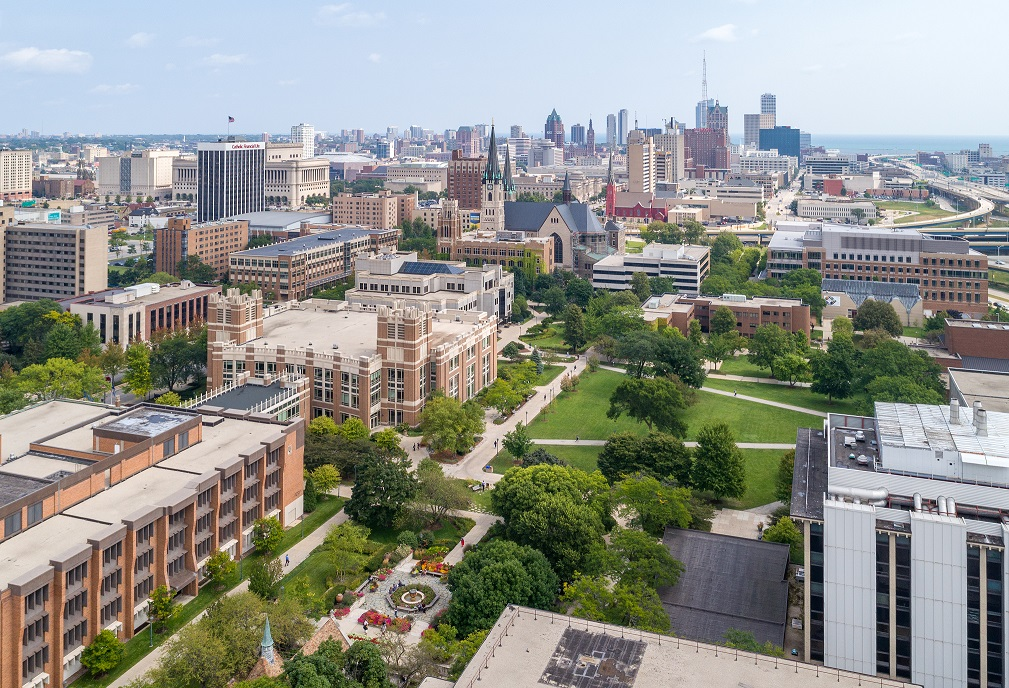 Marquette University Campus Aerial