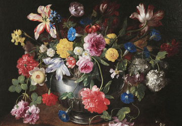 Still Life with Flowers Attributed to Baudesson