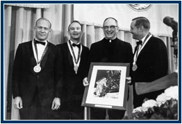 Apollo 11 Astronauts Receiving Pere Marquette Award