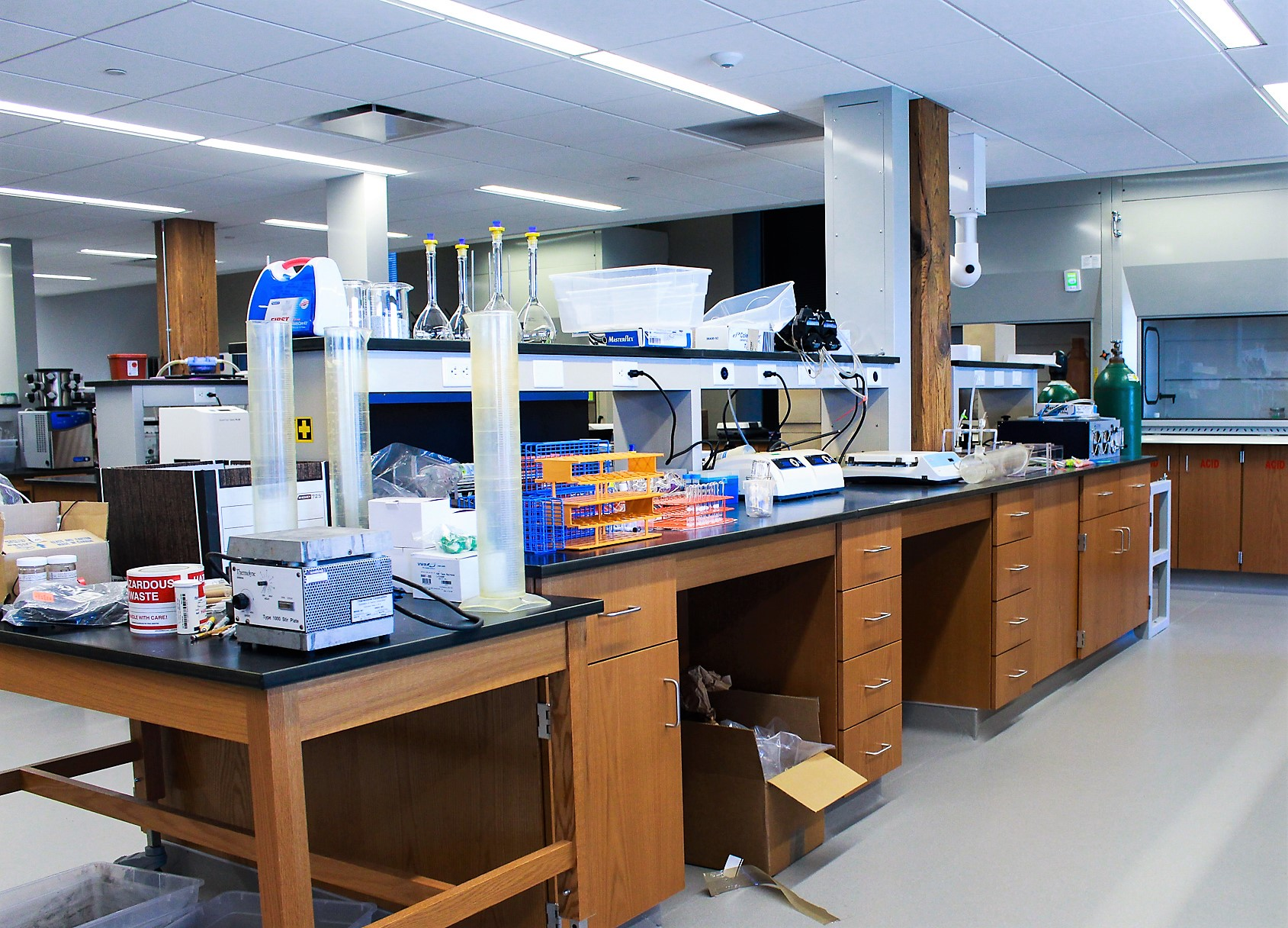 A Global Water Center lab workspace.
