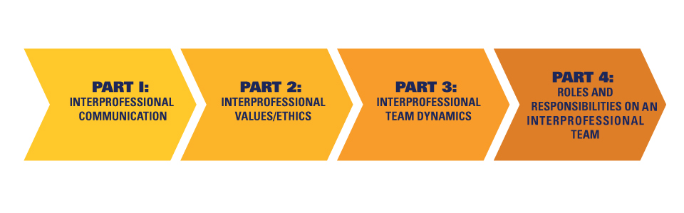 IPE Core4 Workshops: Part 1 - Communication, Part 2 - Values/Ethics, Part 3 - Team of Dynamics, Part 4 - Roles and Responsibilities on an IPE Team