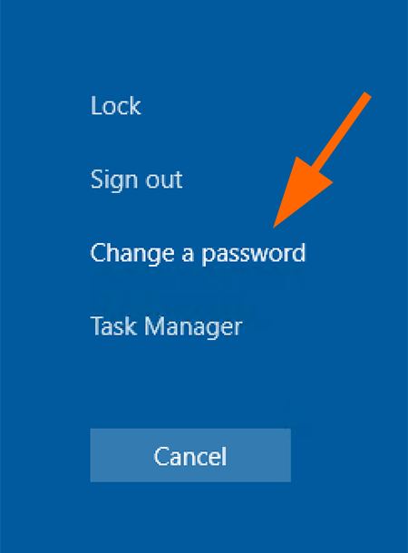 Select Change a password.