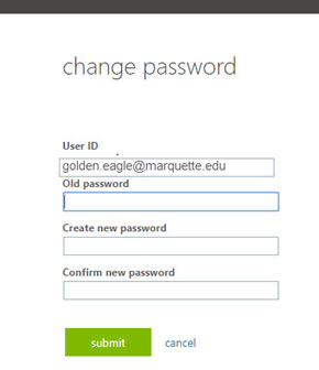 Enter your old password as prompted