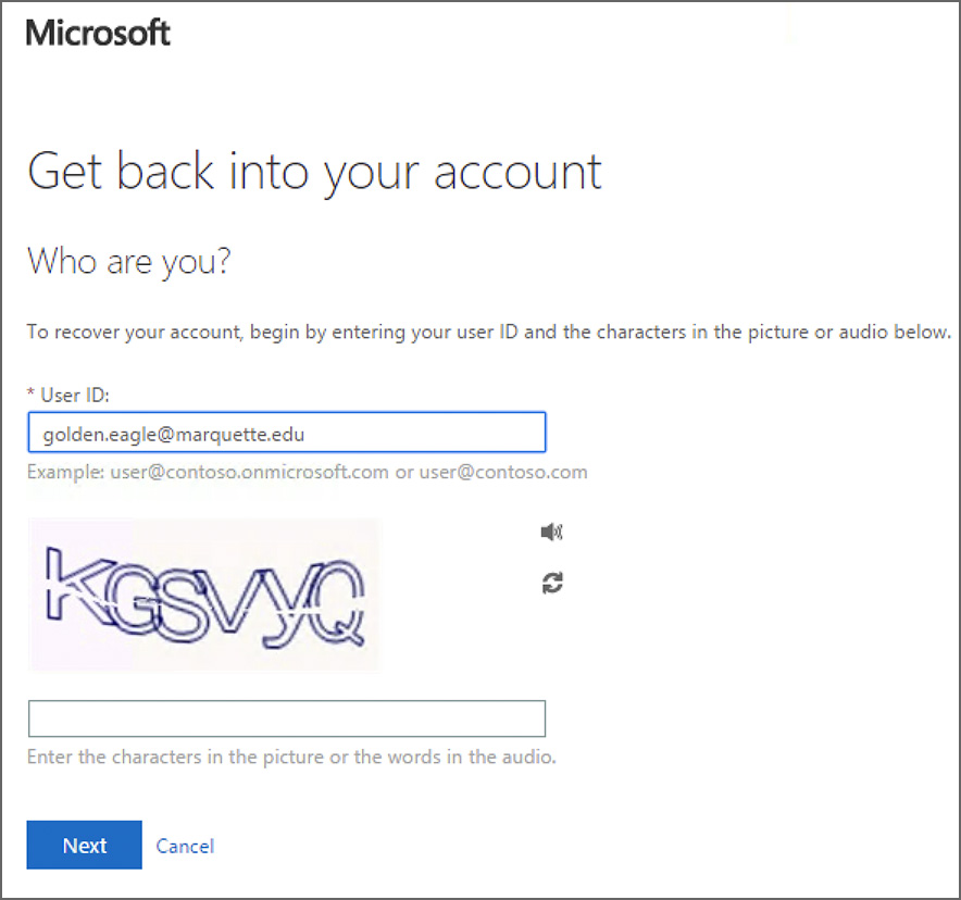 what is my microsoft password and username