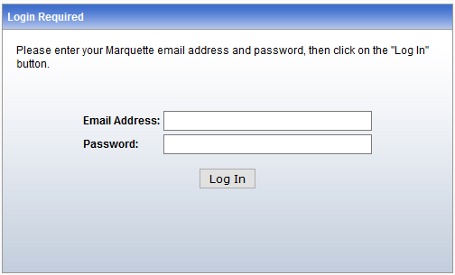 Login with your email address and password.
