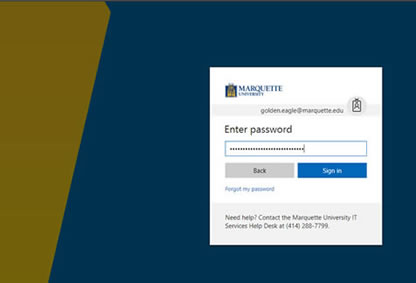 Enter your Marquette password.